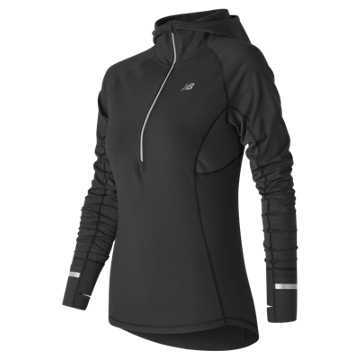 New Balance NB Heat Half Zip, Black