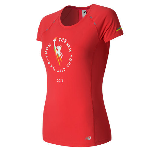 New Balance : NYC Marathon NB Ice Short Sleeve : Women's Performance : WT63223VENR
