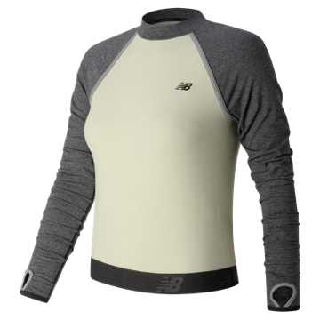 New Balance Sport Style LS Cropped Top, Angora