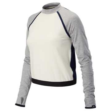 New Balance J.Crew Sport Style Crop Top, Mother of Pearl