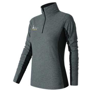 New Balance NYC Marathon Training 1/4 Zip, Black with Grey