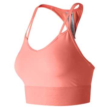 New Balance Crop Bra Top, Bleached Sunrise