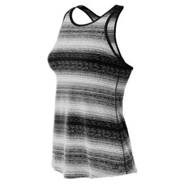 New Balance Layer Tank, Black with White