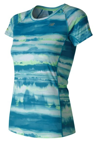 New Balance 71224 Women's NB Ice Short Sleeve Print | WT71224DOW