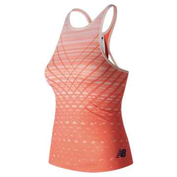 Richmond Tank, Coral with White