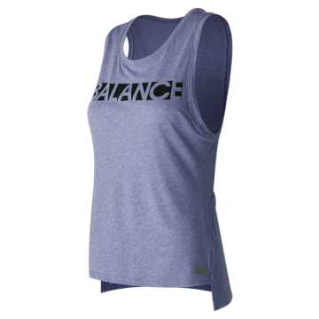 New Balance Cotton Graphic Tank, Deep Cosmic Sky Heather