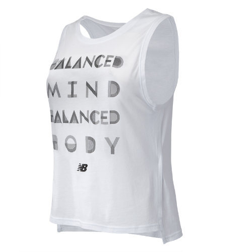 New Balance : Cotton Graphic Tank : Women's Apparel Outlet : WT71471WT