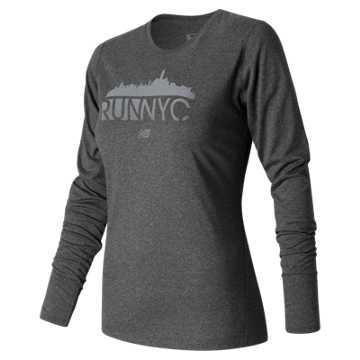 New Balance United NYC Half Skyline Tee, Dark Grey