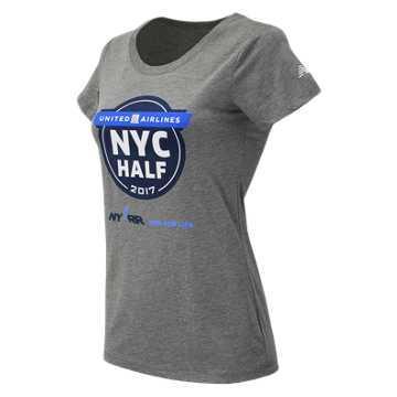 New Balance United NYC Half Official Tee, Grey
