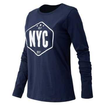 New Balance United NYC Half Sign Tee, Royal Blue