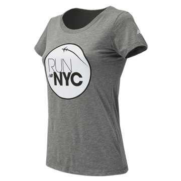 New Balance United NYC Half Fly Over Tee, Grey