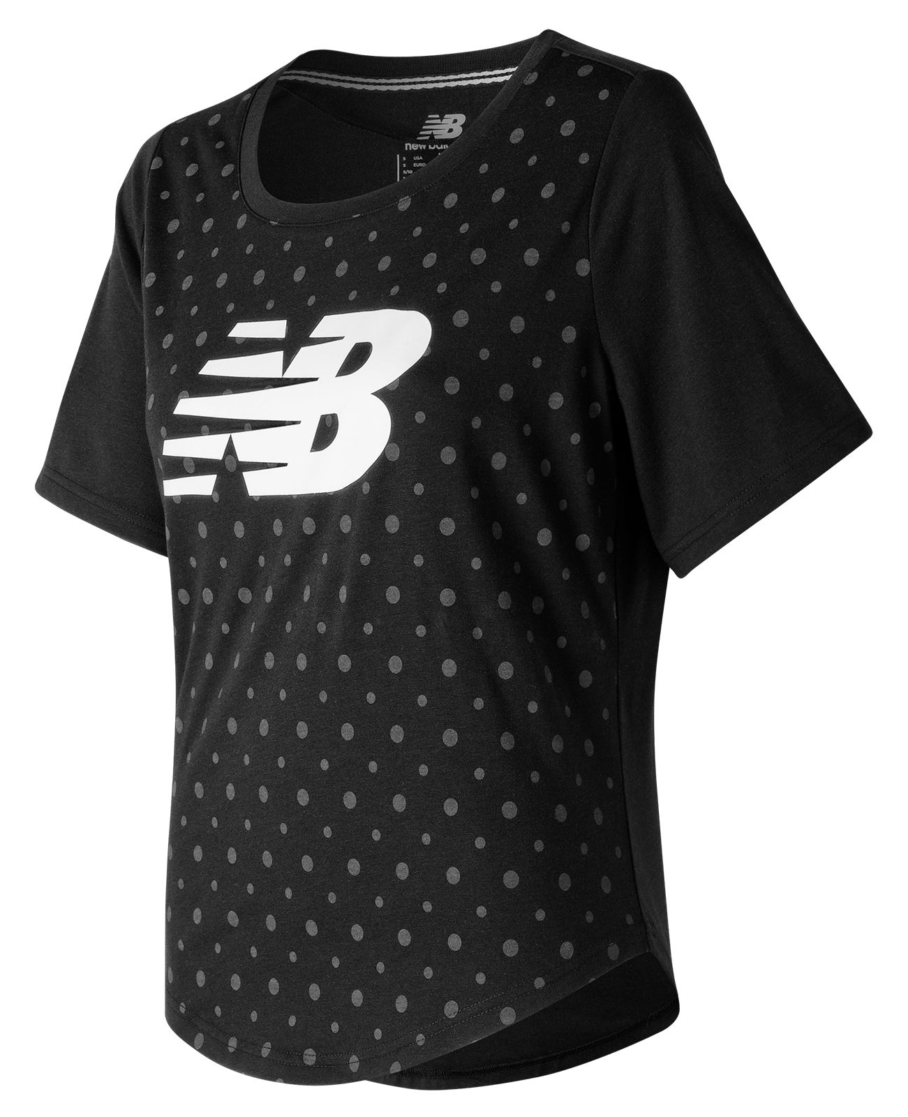 New Balance : Womens Trackster SS Top : Women's Casual : WT71645BK