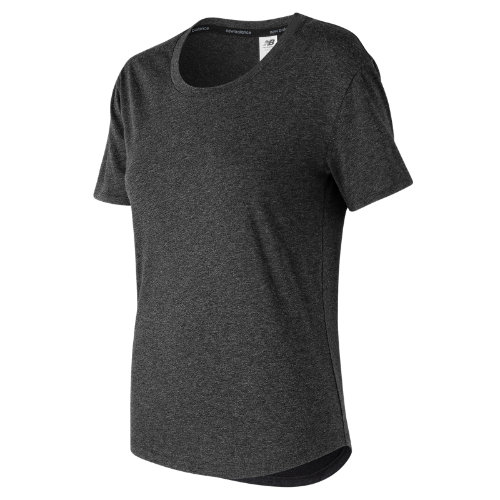 New Balance : Graphic Heather Tech Tee : Women's Performance : WT73124BKW