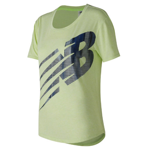 New Balance : Graphic Heather Tech Tee : Women's Performance : WT73124BMA