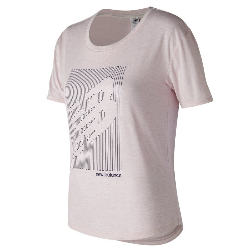 New Balance Graphic Heather Tech Tee Girl's All Clothing - WT73124FRR