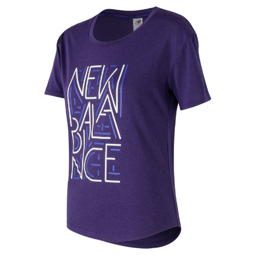 New Balance Graphic Heather Tech Tee Girl's All Clothing - WT73124TSR