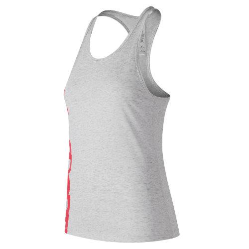 New Balance Graphic Heather Tech Racerback Girl's All Clothing - WT73126SAH