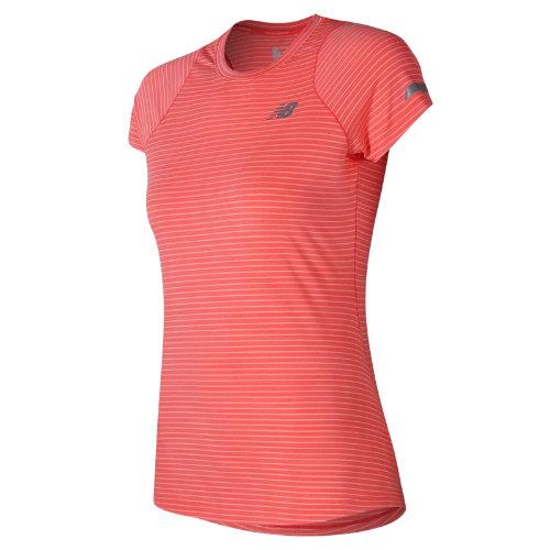 New Balance Seasonless Short Sleeve Girl's All Clothing - WT73233VCO