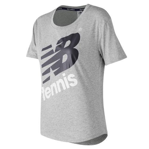 New Balance : Heathered Tennis Short Sleeve : Women's Tennis : WT73435AG