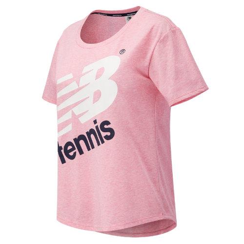 New Balance : Heathered Tennis Short Sleeve : Women's Tennis : WT73435AKK