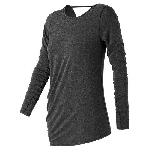 New Balance Long Sleeve Layering Tee Girl's All Clothing - WT73450BKH