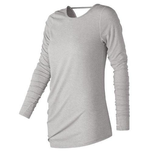 New Balance Long Sleeve Layering Tee Girl's All Clothing - WT73450SAH