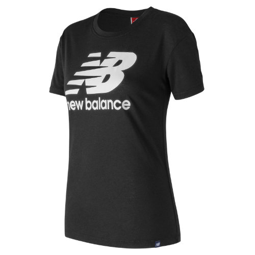 New Balance : NB Logo Tee : Women's Casual : WT73504BK