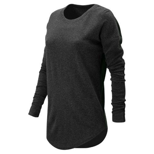 New Balance : 247 Luxe Long Sleeve : Women's Casual : WT73513BK