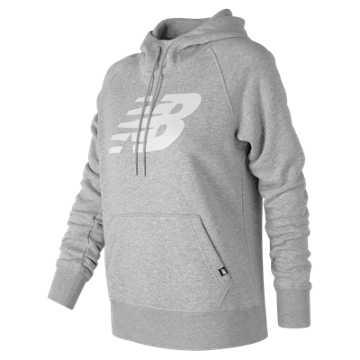 Essentials Pullover Hoodie, Athletic Grey