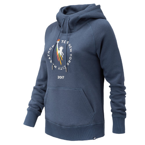 New Balance : NYC Marathon Essentials Pullover Hoodie : Women's Casual : WT73526VVTI