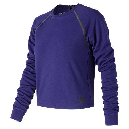 New Balance : 247 Luxe Crop Long Sleeve : Women's Casual : WT73527TMP