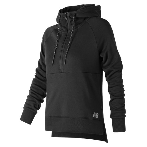 New Balance NB Athletics Half Zip Hoodie Girl's All Clothing - WT73528BK