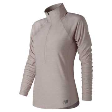 Anticipate Half Zip, Shell Pink with Heather Grey