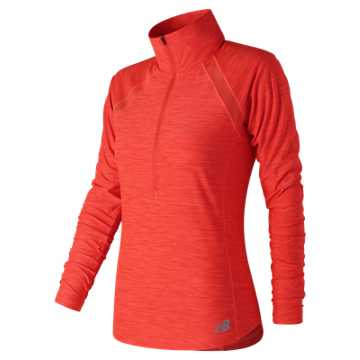 Anticipate Half Zip, Flame with Heather Grey