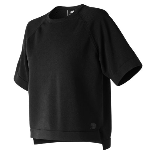 New Balance 247 Luxe Short Sleeve Crew Girl's Casual - WT81500BK