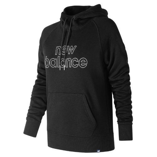 New Balance Essentials Pullover Hoodie Girl's Casual - WT81551BK