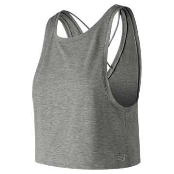 Transform Two Way Crop Tank , Athletic Grey