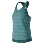 Q Speed Jacquard Tank , Teal with Heather Grey