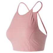 Evolve Halter Crop , Shell Pink