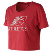 NB Athletics Cropped Tee , Pompeian Red