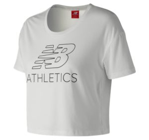뉴발란스 New Balance Womens NB Athletics Cropped Tee,White