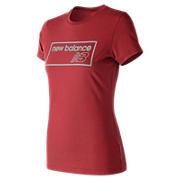 NB Athletics Tee , Red