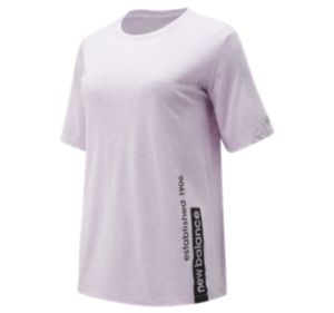 뉴발란스 New Balance Womens Relentless Graphic Tee,Violet