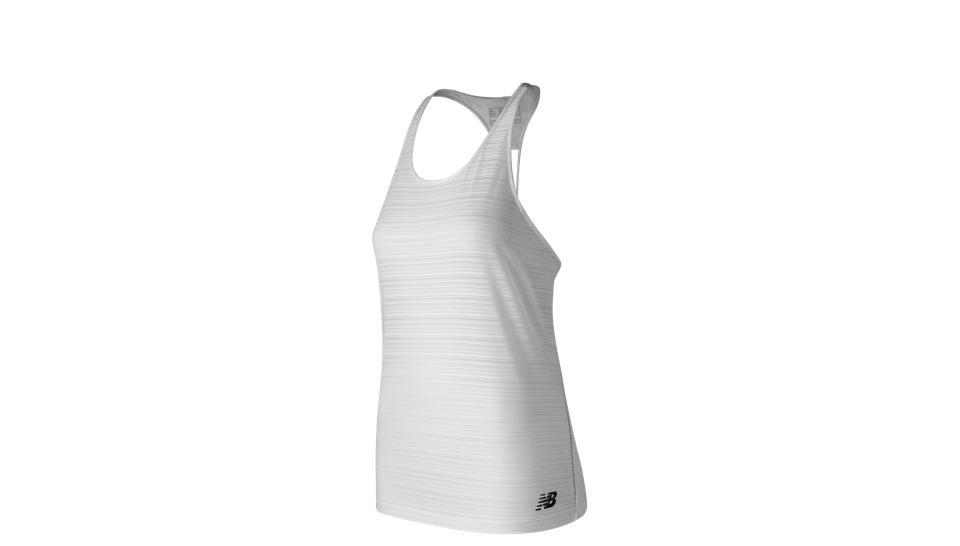 db05772ab0 Camiseta New Balance Q Speed Breathe Striped Tank Mujer