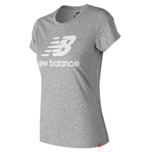 The women\\\'s Essentials Stacked Logo T injects your everyday look with an easy dose of classic style with an athletic fit and oversized NB logo. A woven NB label at the hem helps round out the look.