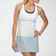 Montauk Dress, Bright White with Celestial Blue