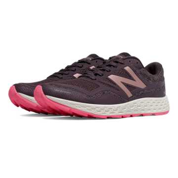 New Balance Fresh Foam Gobi Trail, Dark Grey with Pink