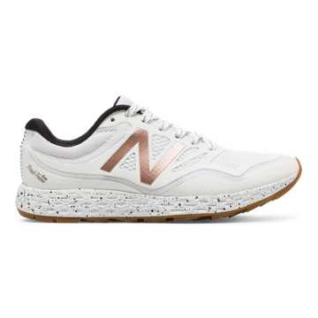 New Balance Fresh Foam Gobi Trail, White with Rose Gold