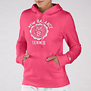 Bookstore Hoodie, Diva Pink with Bright White