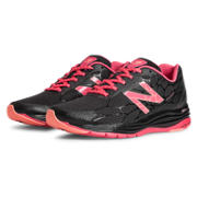 New Balance 1745, Black with Coral Pink